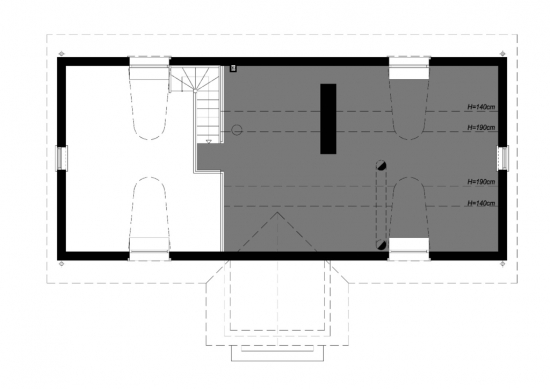 Plan pod casa rustica