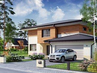 Casa cu acoperis gri inchis cu 4 versanti