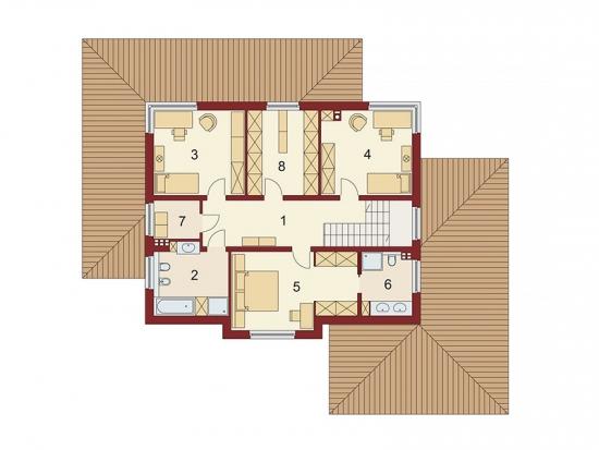 Casa de lux plan etaj
