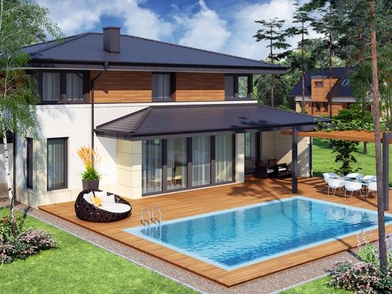 Model de terasa acoperita cu piscina for Modele de case fara etaj cu terasa