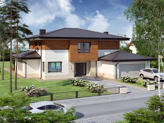 Proiect de casa cu camere iesite in consola