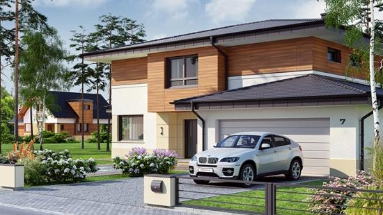 Proiect de casa cu etaj si pod for Case cu etaj si garaj