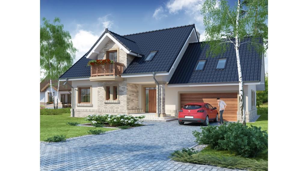 Casa cu mansarda garaj si balcoane
