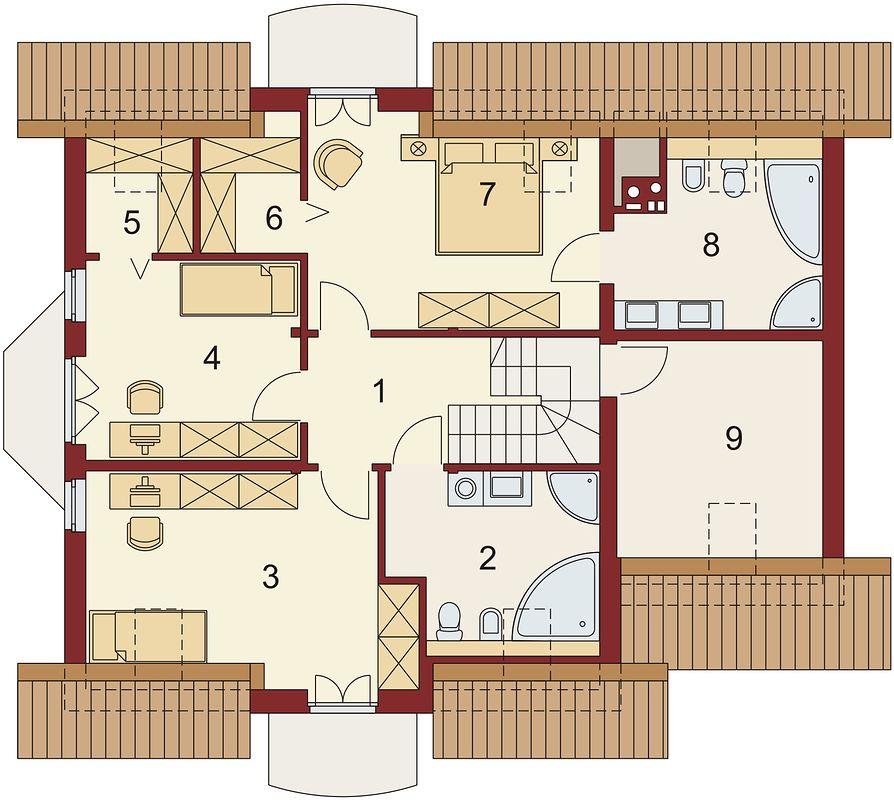 Proiectie mansarda casa