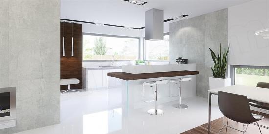 Bucatarie moderna minimalista alba