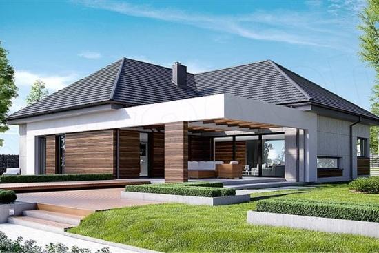 Casa moderna fara etaj suprafata 160 mp