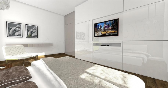 Dressing alb cu televizor incorporat