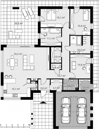 Plan distribuire camere casa fara etaj