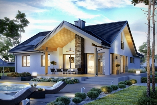 Proiect casa bungalow cu pod circulabil