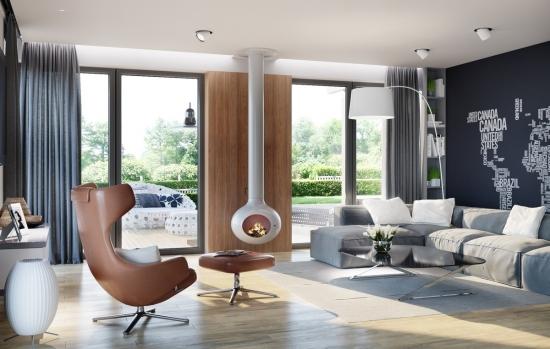Soba metalica model minimalist