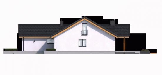 Vedere laterala casa cu balcon in stil francez