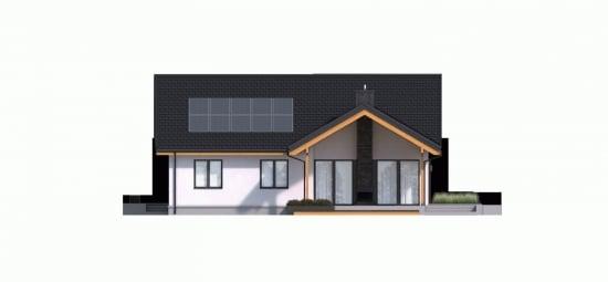 Vedere laterala iesire din living catre terasa