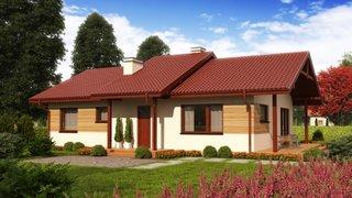 Proiect casa fara etaj din lemn