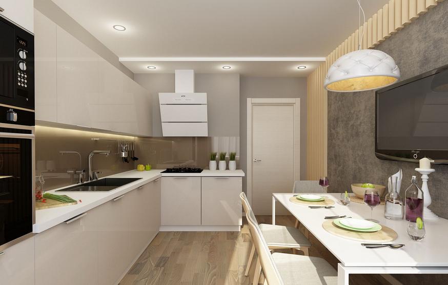 Bucatarie moderna in casa rezidentiala