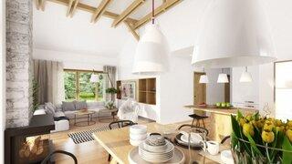 Bucatarie open space cu living