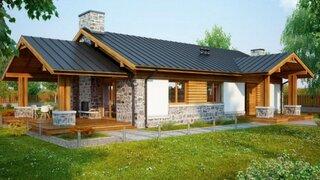 Casa in stil rustic doar cu parter