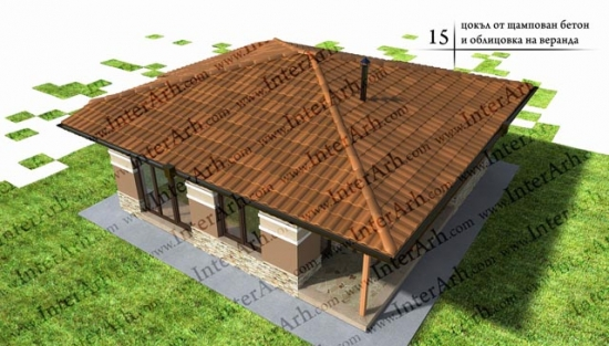 Casa din lemn finalizata