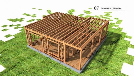 Grinzi din lemn casa pe structura lemn