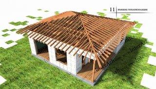 Izolare cu polistiren pe exterior casa lemn