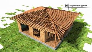 Montaj acoperis casa din lemn