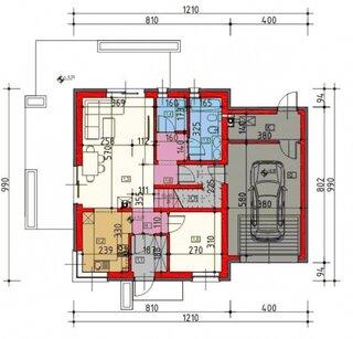 Plan parter casa 120 mp