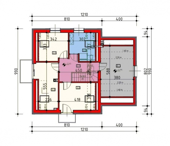 Proiect mansarda casa 120 mp