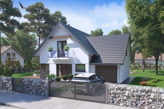 Proiect casa superba cu mansarda - perfecta pentru o familie cu 4 -5 persoane