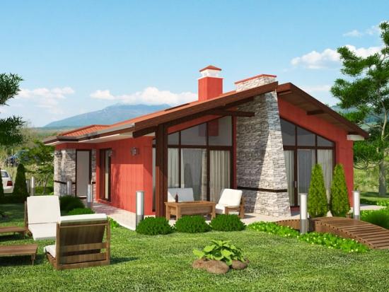 Proiect de casa unifamiliala cu doua dormitoare