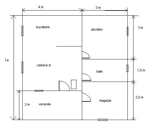 Plan casa de lemn
