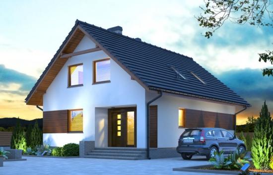 Casa contemporana cu mansarda