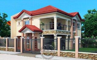 Casa cu etaj cu terasa acoperita si garaj dedesubt