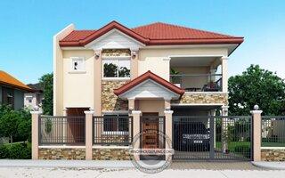 Proiect casa cu mansarda cu 2 livinguri