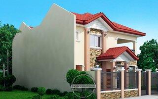 Vedere laterala casa cu 2 livinguri