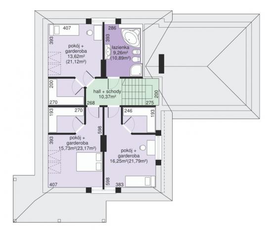 Distribuire camere la etaj schita