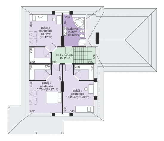 camere la etaj in casa de 143 mp