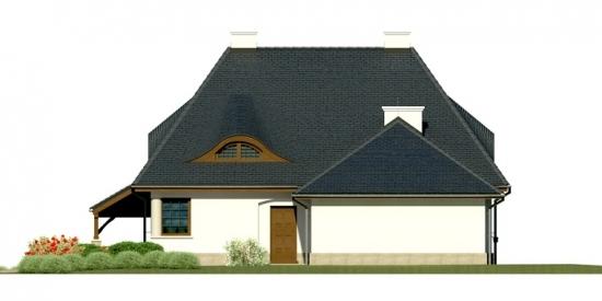 Vedere laterala fatada casa