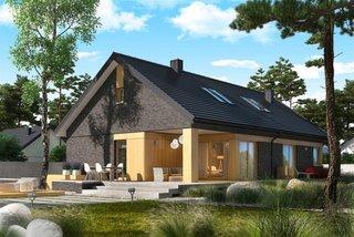 Casa cu terasa spatioasa