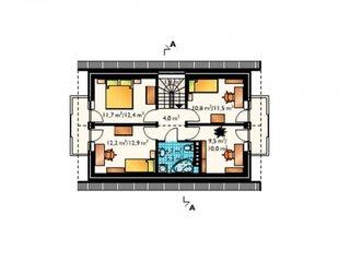 Plan etaj casa cu 5 camere