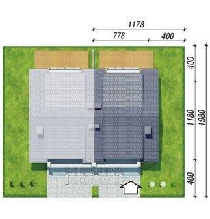 Amplasare duplex pe teren 8x11