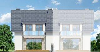 Casa duplex cu 4 elevatie vedere spate