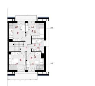 Plan etaj casa duplex cu 4 camere