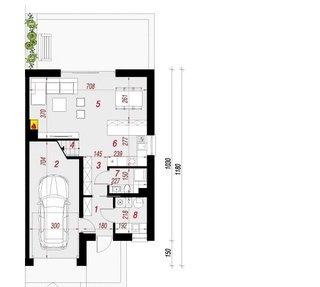Plan parter casa duplex cu 4 camere