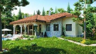 Proiect casa fara etaj cu tigla ceramica pe acoperis