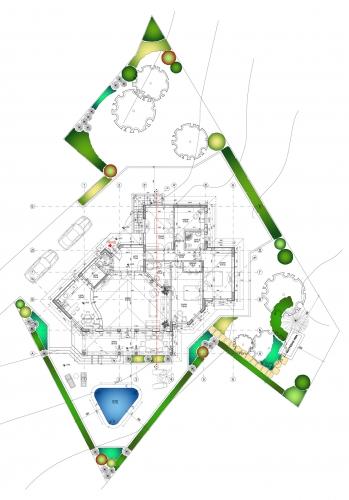 Schita casa cu forma neregulata