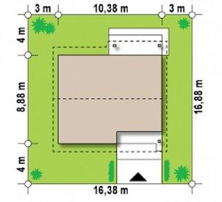 Dimensiuni teren casa cu 2 camere