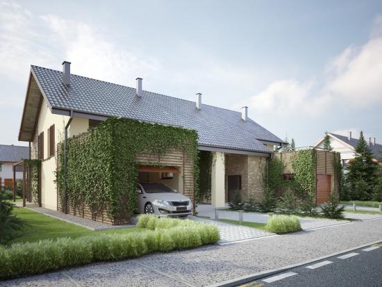 Case duplex cu mansarda si garaj