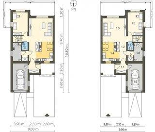 Plan parter proiect case duplex