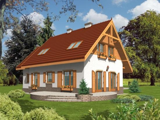 Casa cu mansarda si terasa