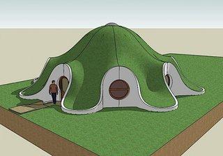 Schita casa sferica