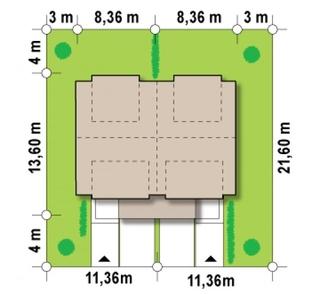 Dimensiuni teren duplex modern